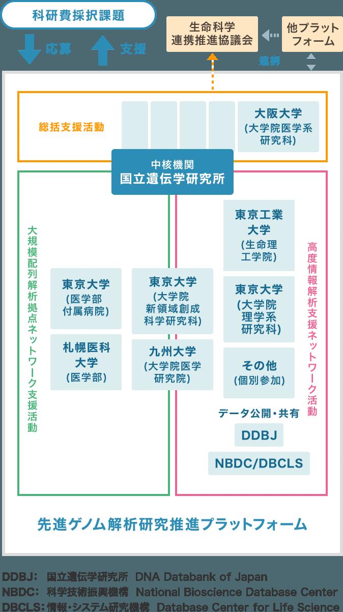 先進ゲノム支援組織図